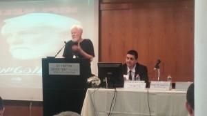 אורי אבנרי בהרצאה מרתקת בהשקת ספרו של עורך דין רון לוינטל